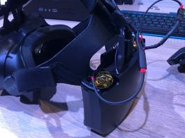 Прототип HTC Vive с аксессуаром WiGig // gizmodo.co.uk